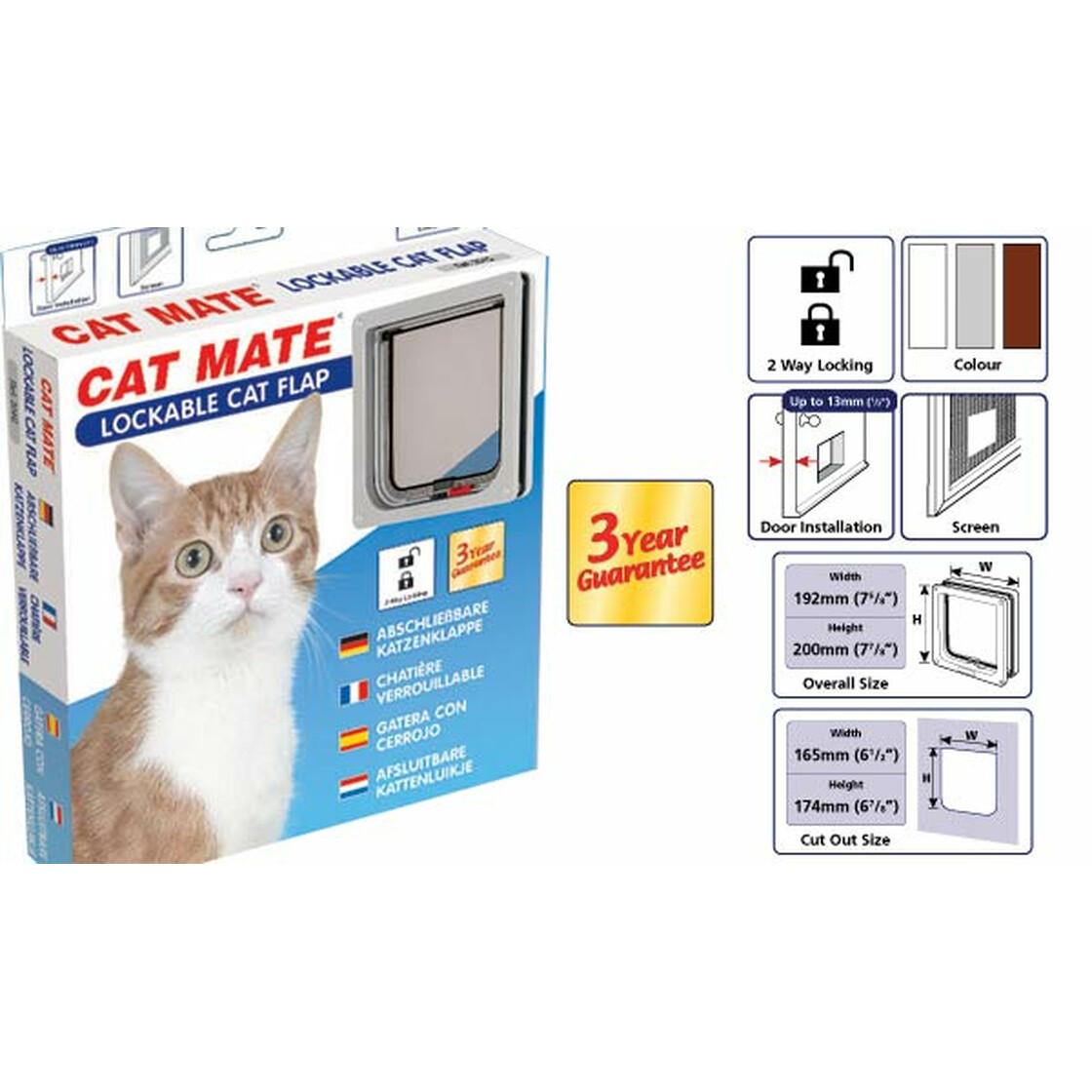 katzenklappe cat mate nr 304 2 wege manuell 15 90. Black Bedroom Furniture Sets. Home Design Ideas